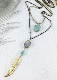 BRAVE LOTUS Double Layer Jewelled Necklace - Gold