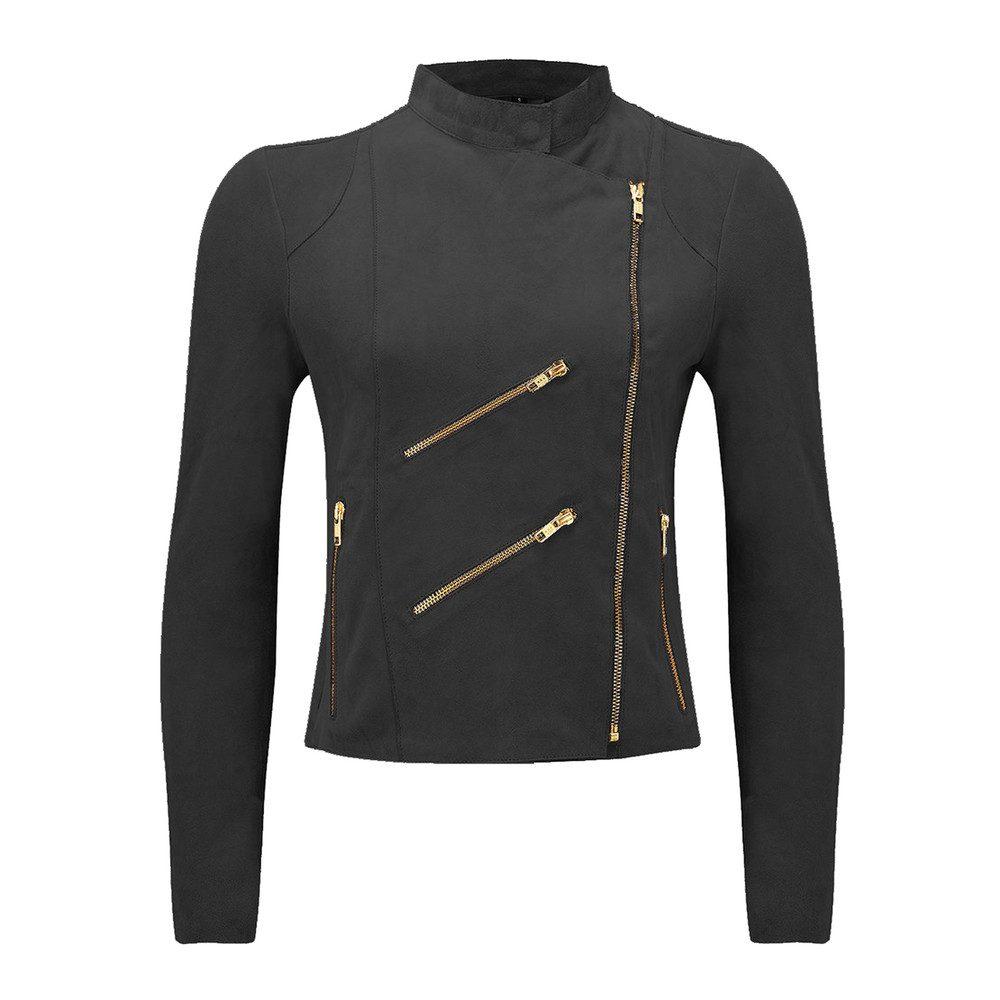 Paris Suede Jacket - Barely Black