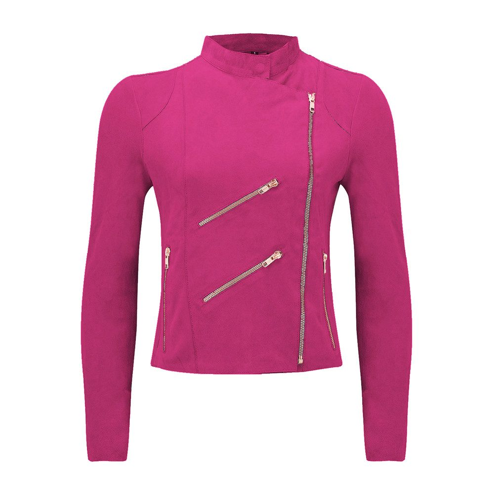 Paris Suede Jacket - Hot Pink