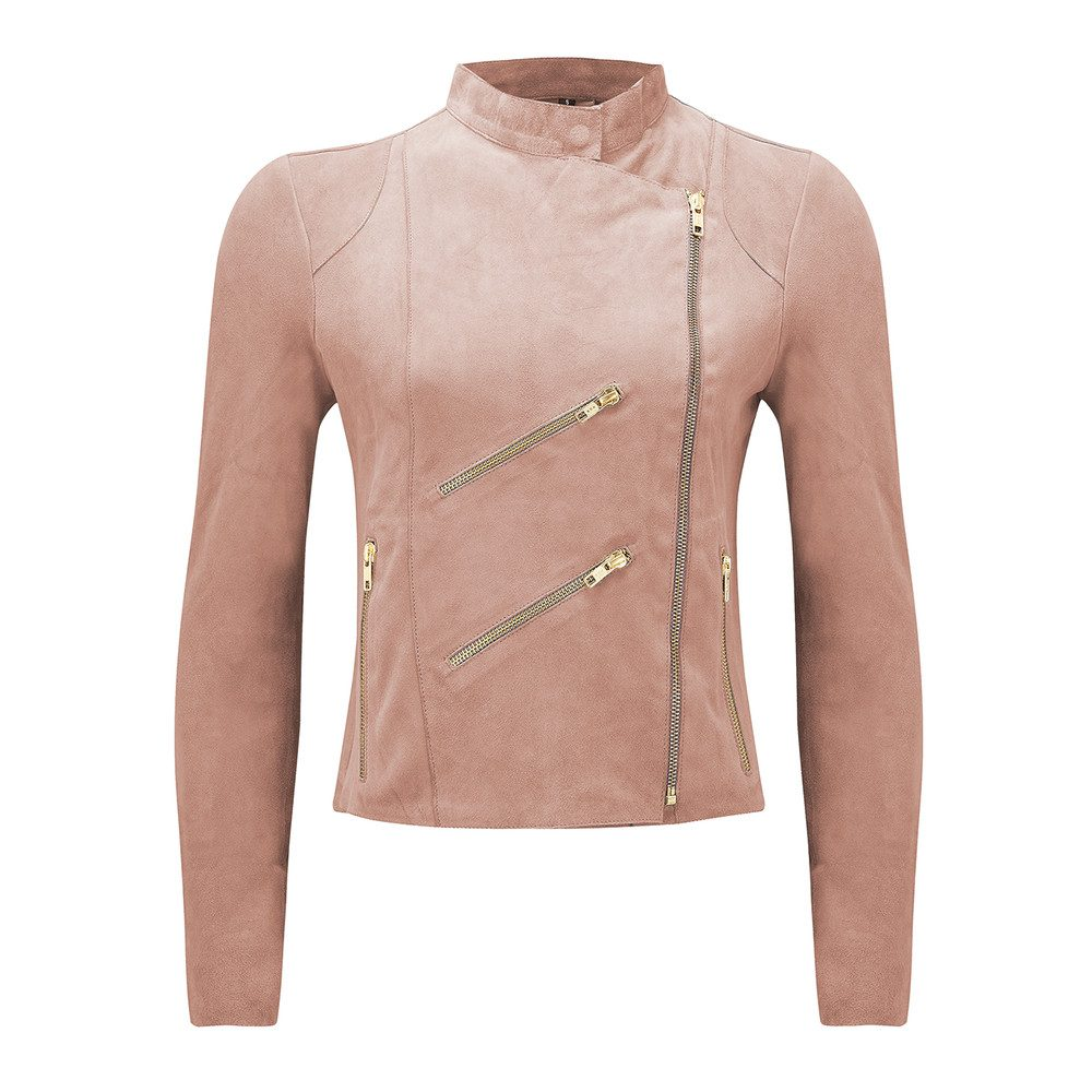 Paris Suede Jacket - Baby Pink