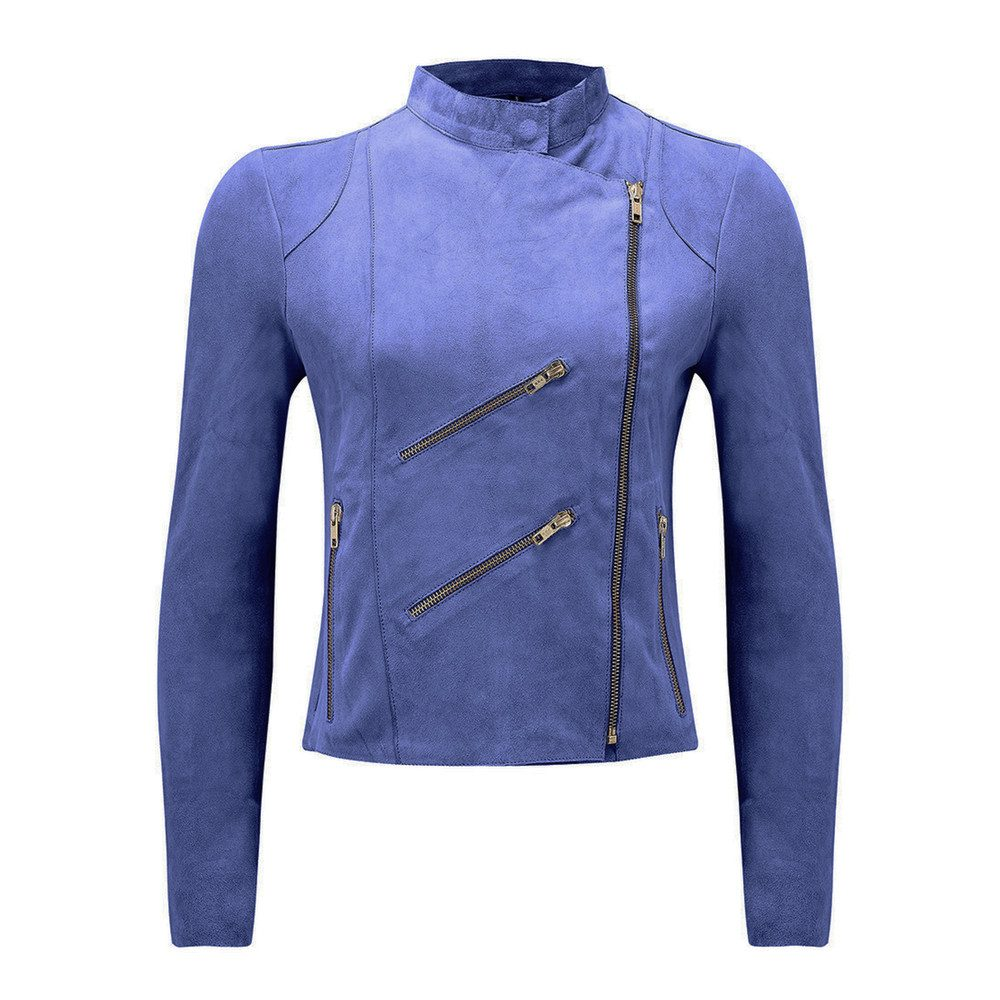 Paris Suede Jacket - Cobalt Blue