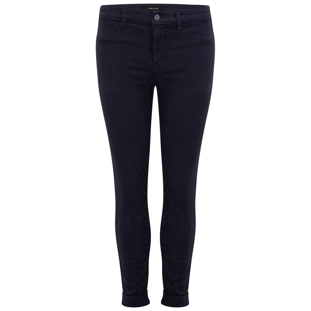 Anja Clean Cuffed Crop Jeans - Dark Navy