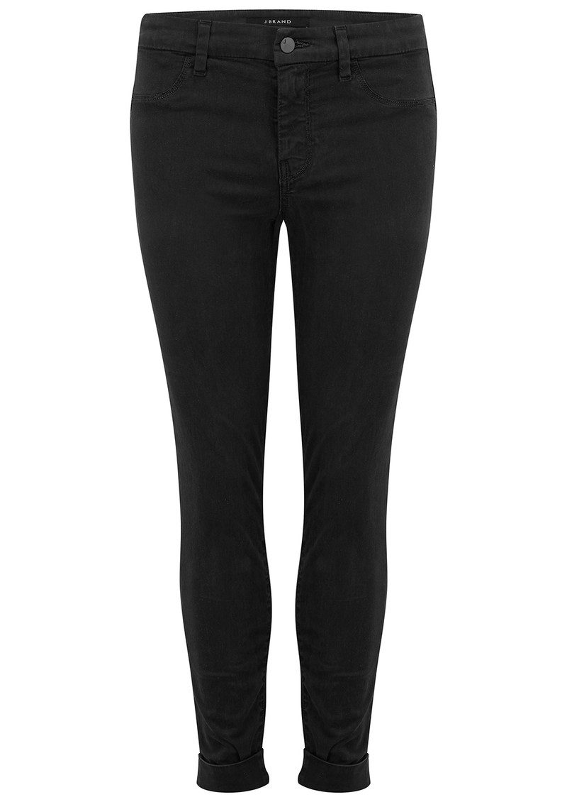 J Brand Anja Clean Cuffed Crop Jeans - Black main image