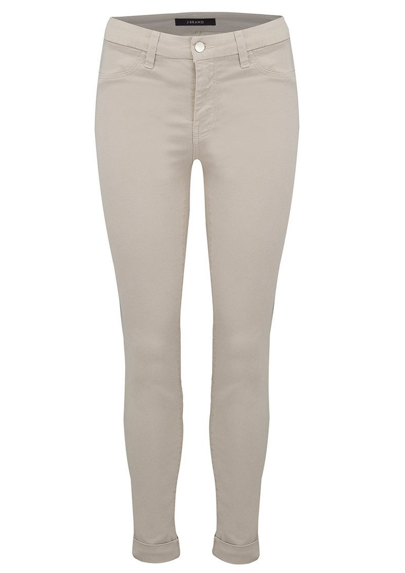 J Brand Anja Clean Cuffed Crop Jeans - Biscuit main image