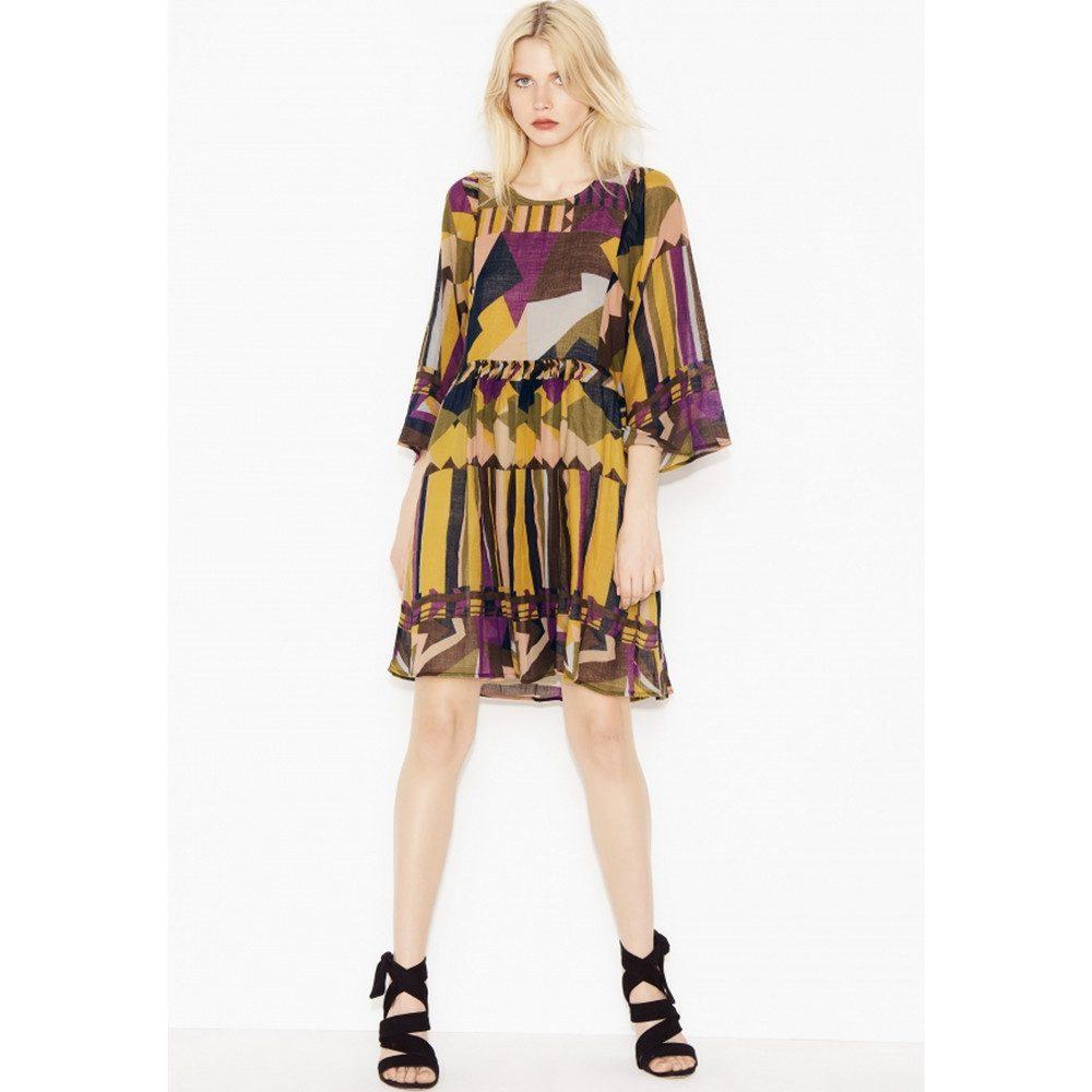 Fola Dress - Ocre Print