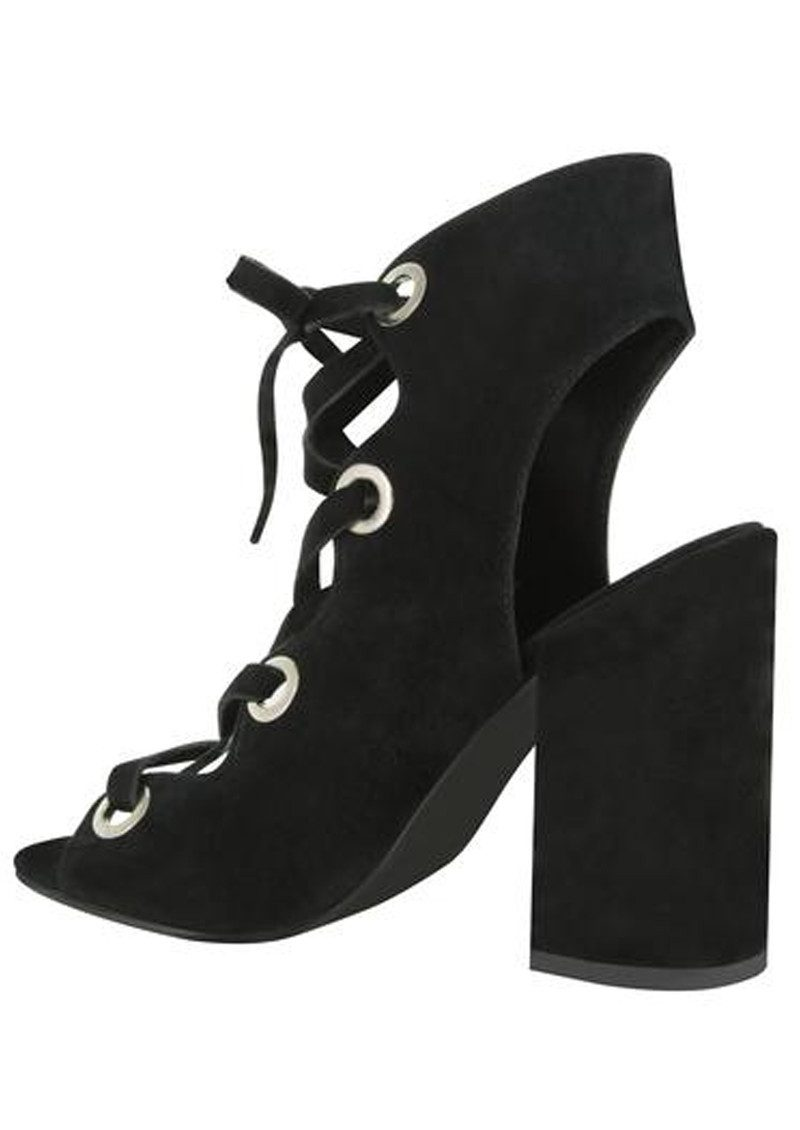 SENSO Uba Lace Up Suede Heels - Ebony main image