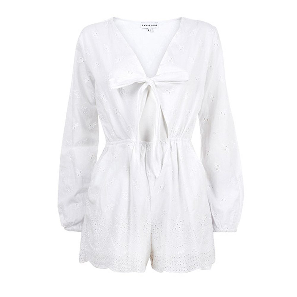 Blanco Cotton Playsuit - White