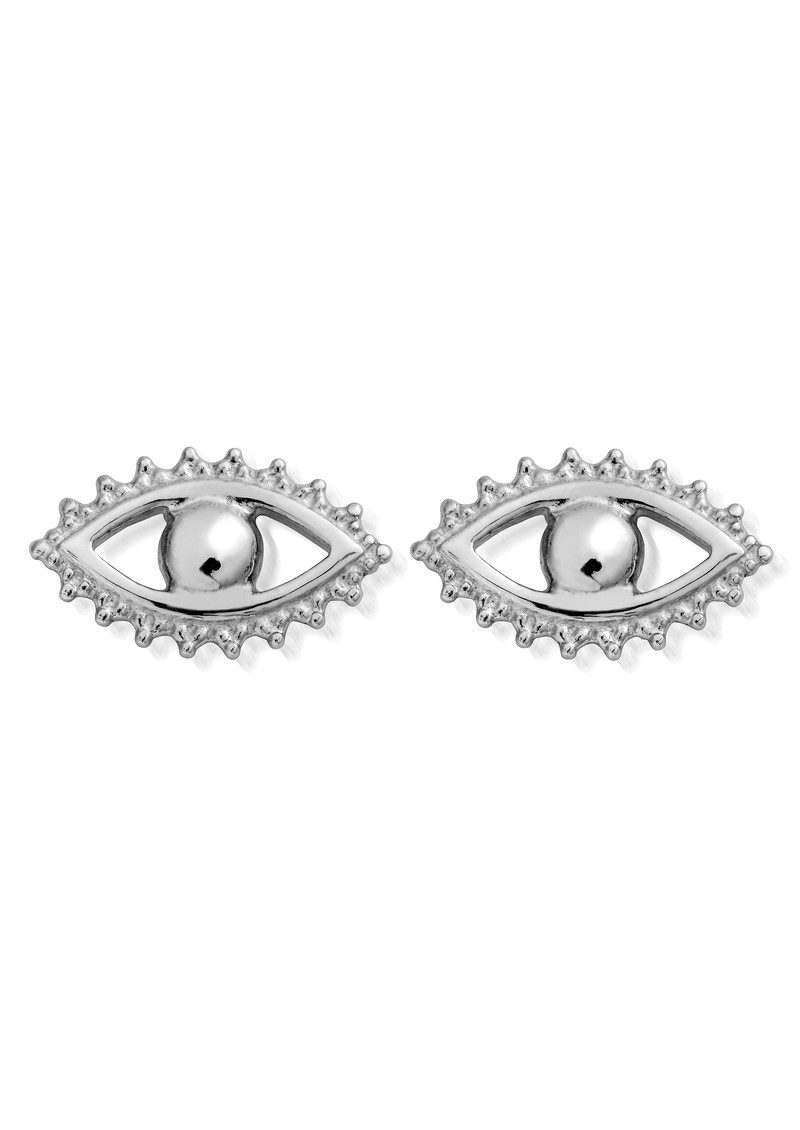 ChloBo Evil Eye Stud Earrings - Silver main image