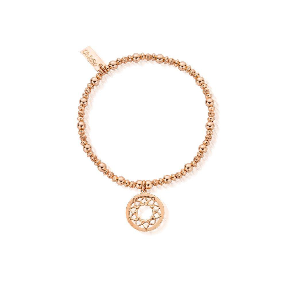 Heart Mandala Bracelet - Rose Gold