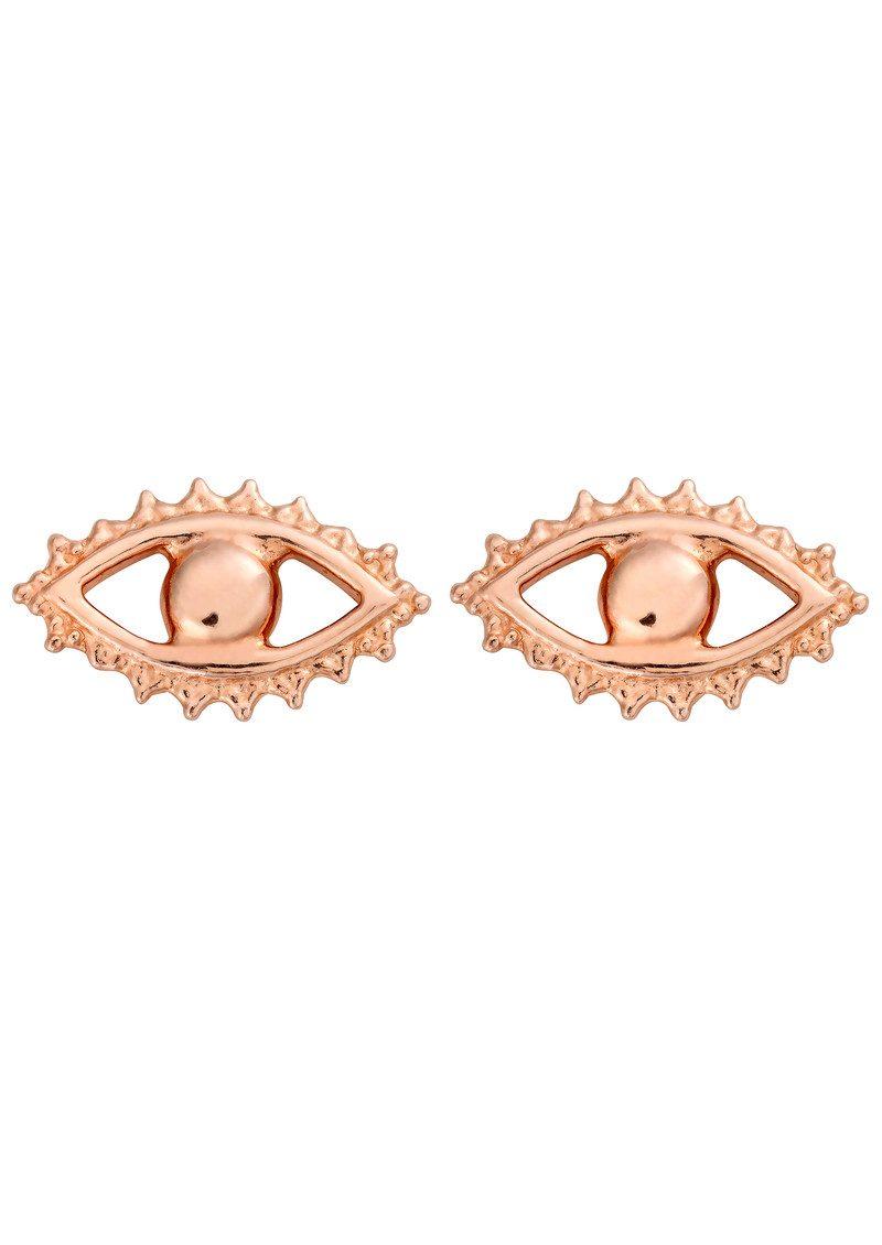 ChloBo Evil Eye Stud Earrings - Rose Gold main image