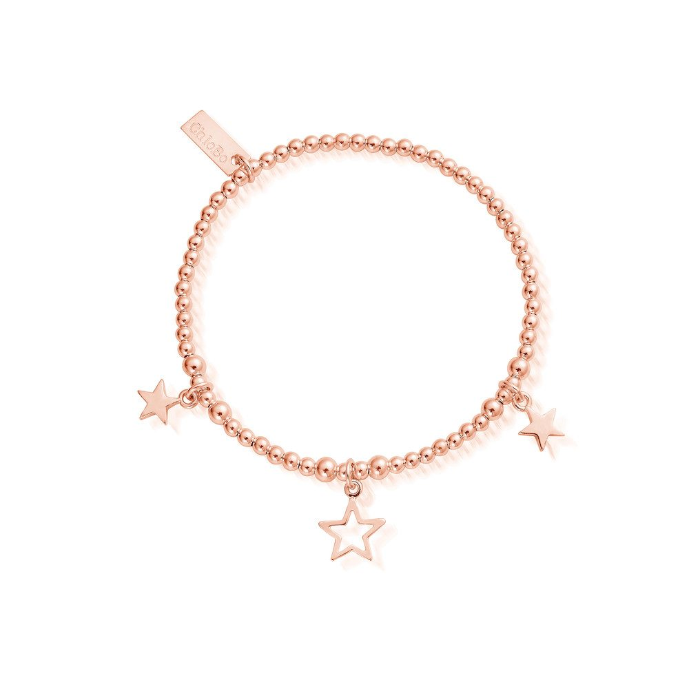 Triple Star Bracelet - Rose Gold
