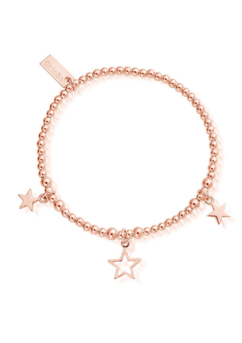 ChloBo Triple Star Bracelet - Rose Gold main image