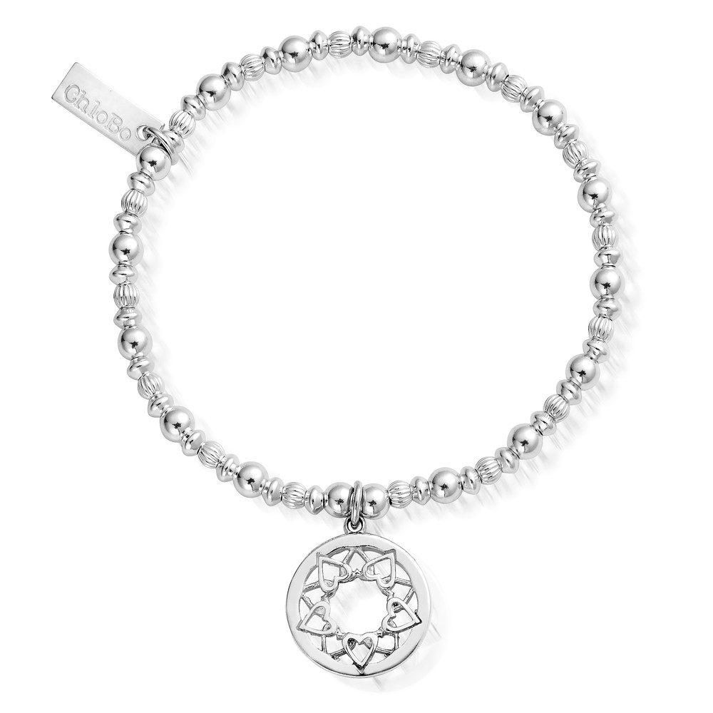 Heart Mandala Bracelet - Silver