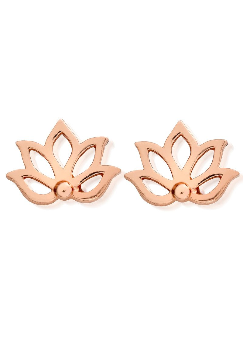 ChloBo Lotus Stud Earrings - Rose Gold main image