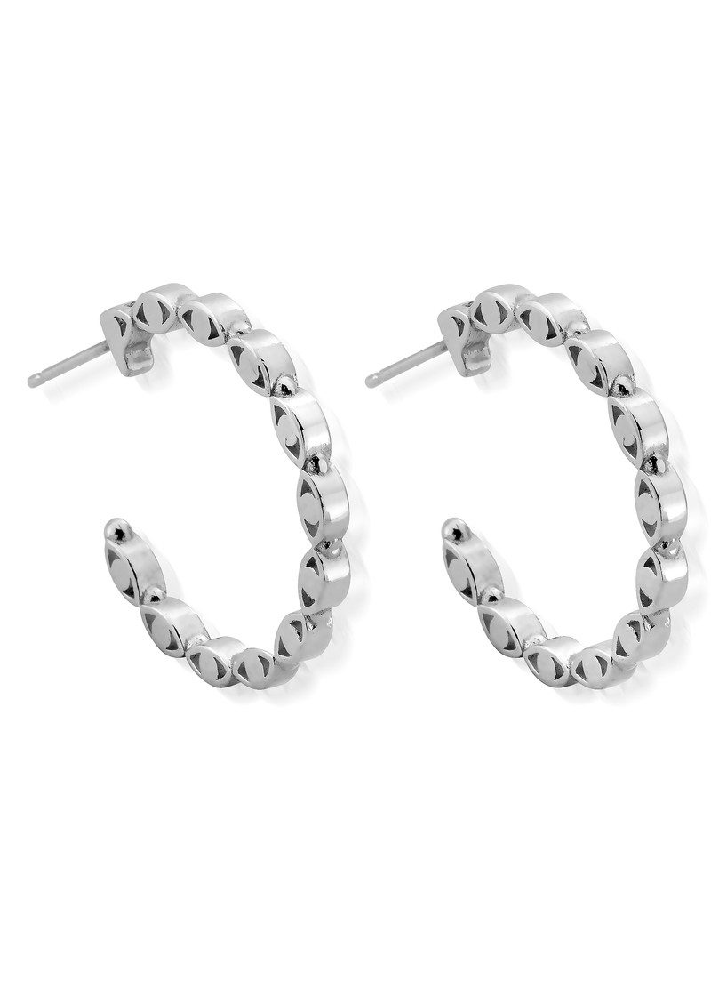 ChloBo Evil Eye Hoop Earrings - Silver main image
