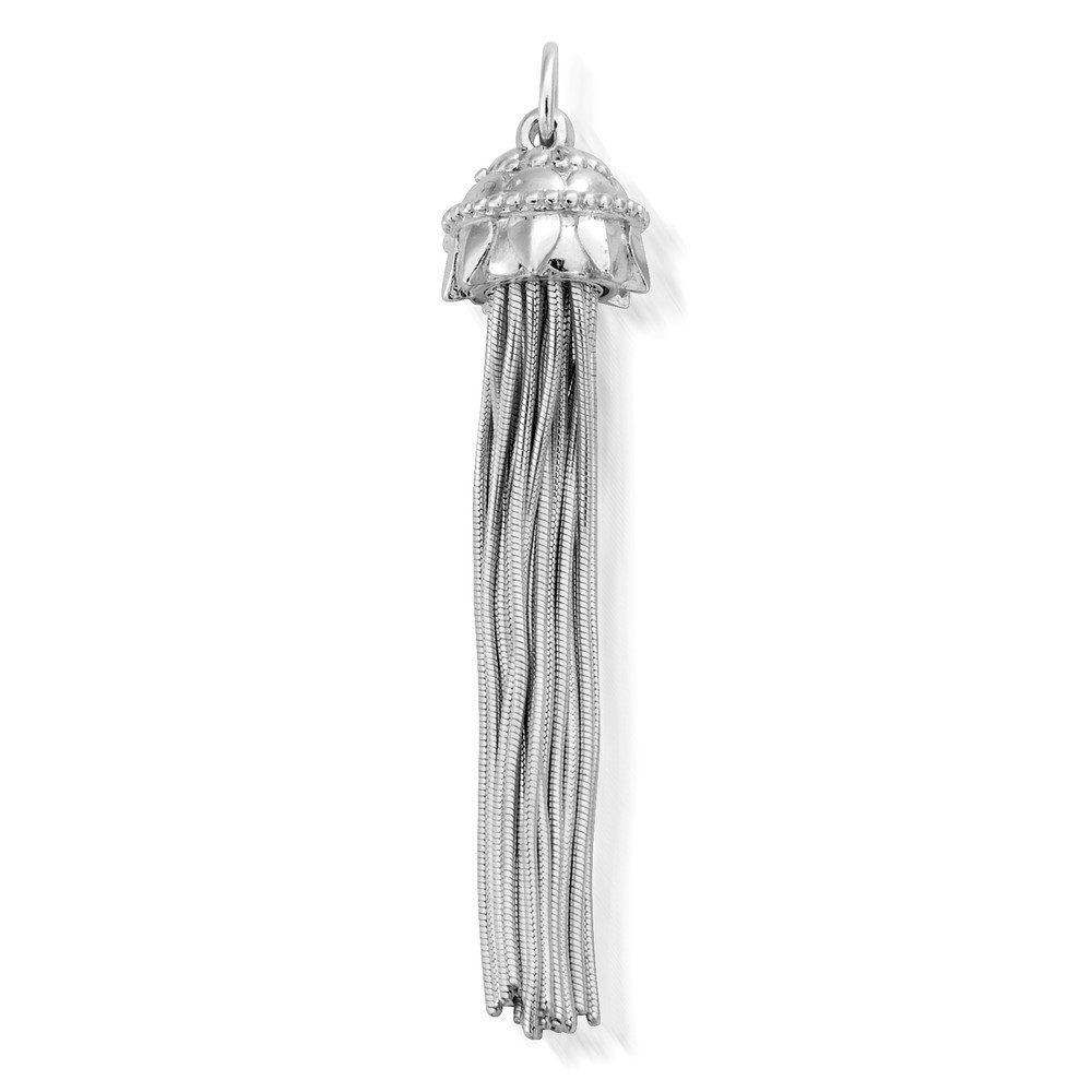 Mandala Tassel Pendant - Silver