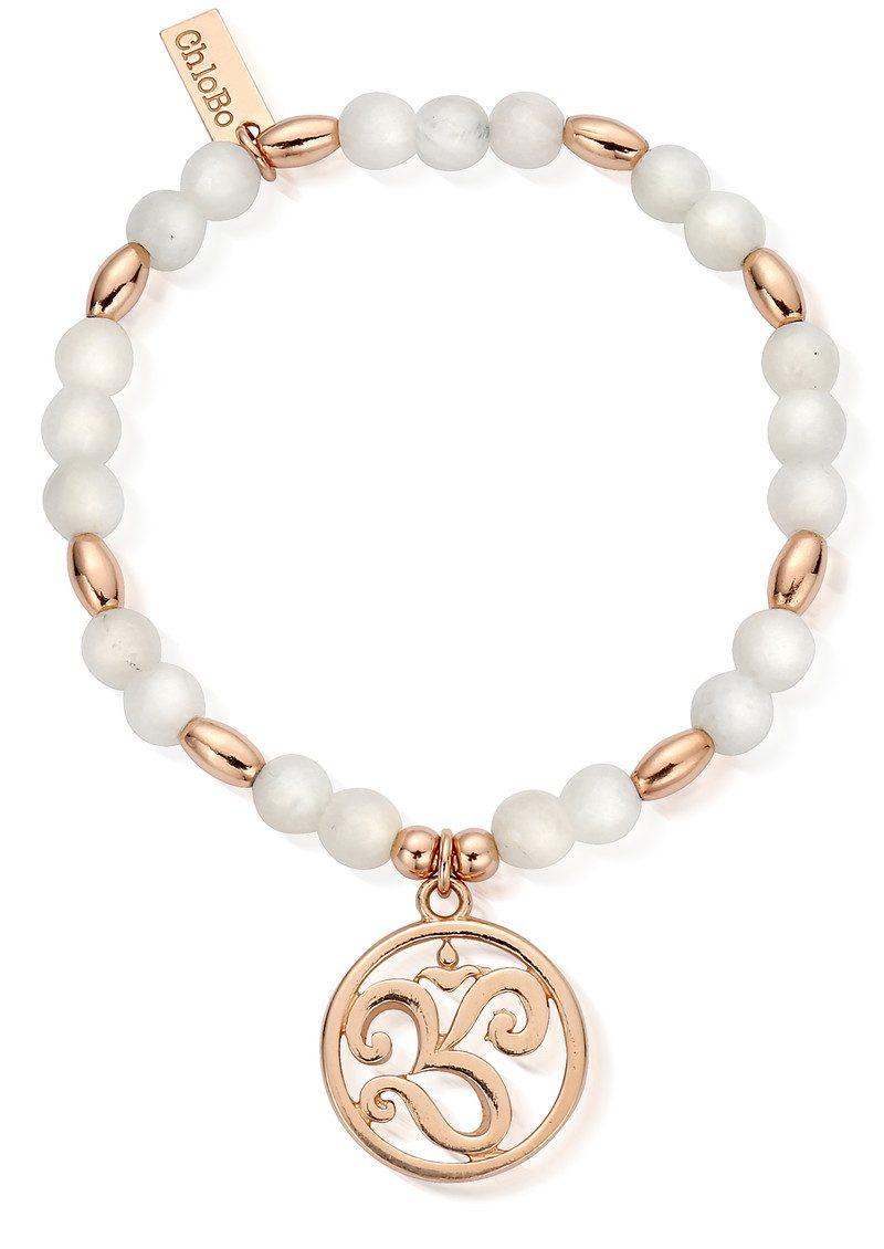 ChloBo Om Disc Bracelet - Rose Gold & Moonstone main image