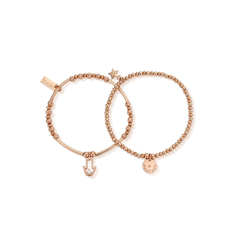 Protection Set of 2 Bracelets - Rose Gold