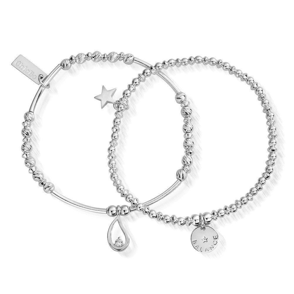 Balance Set of 2 Bracelets - Silver