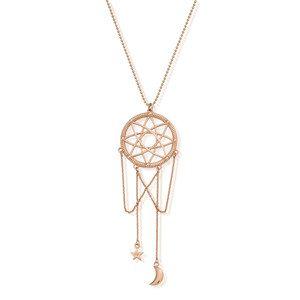 Dream Catcher Necklace - Rose Gold