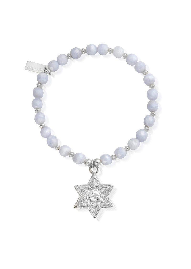 ChloBo Sun & Star Bracelet - Silver & Blue Lace Agate main image