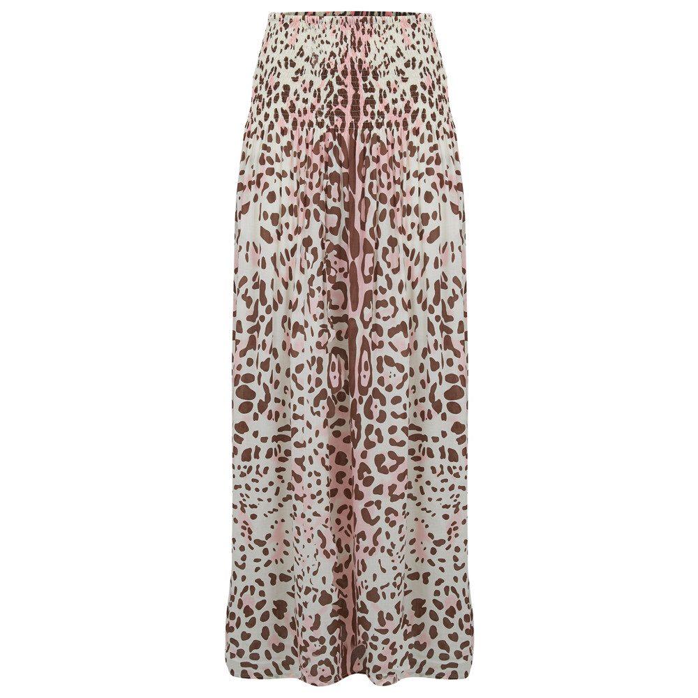 Marissa Leopard Print Skirt - Blush