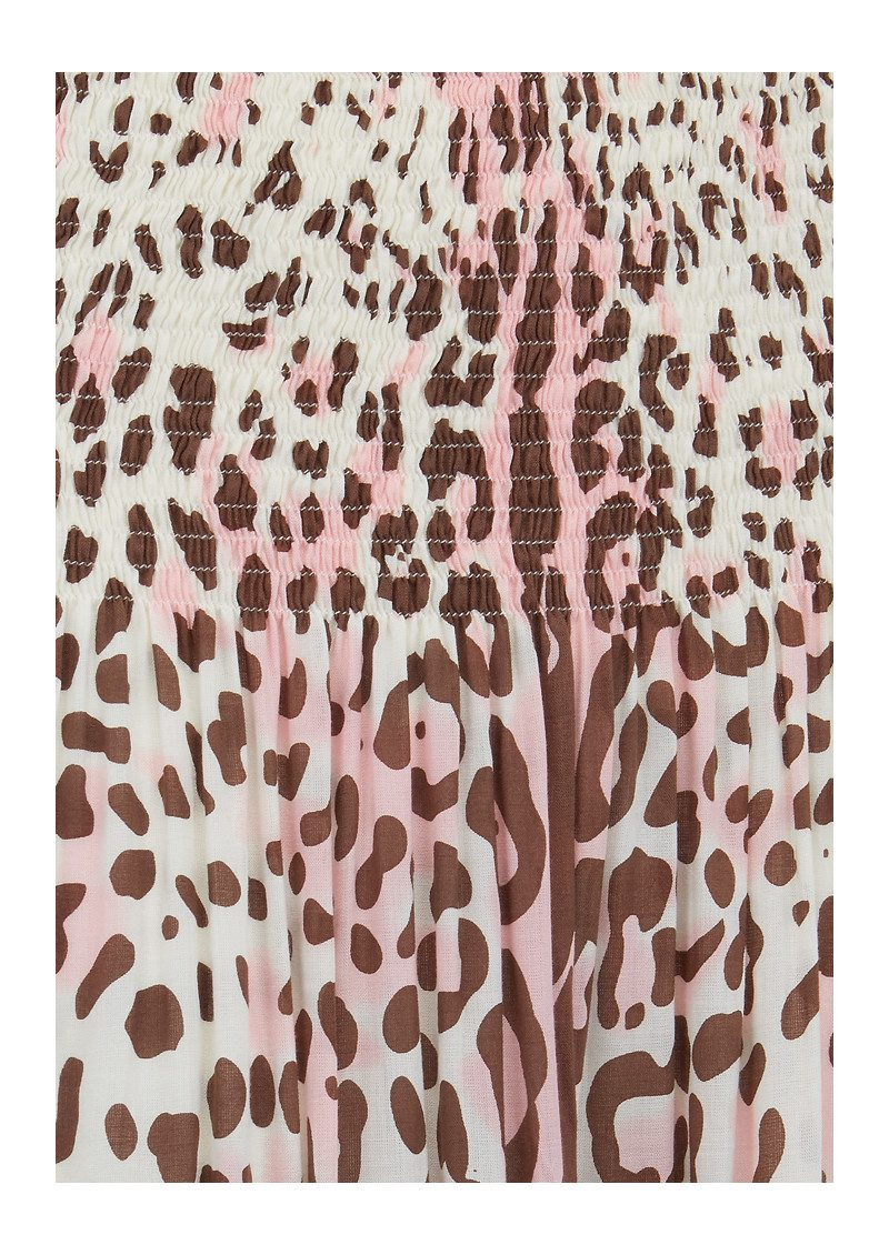 BETH AND TRACIE Marissa Leopard Print Skirt - Blush main image