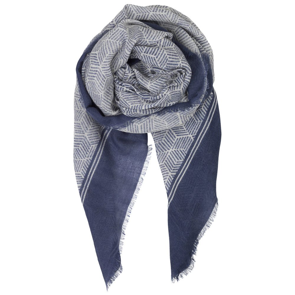 Montgrand Wool Mix Scarf - Shy Indigo