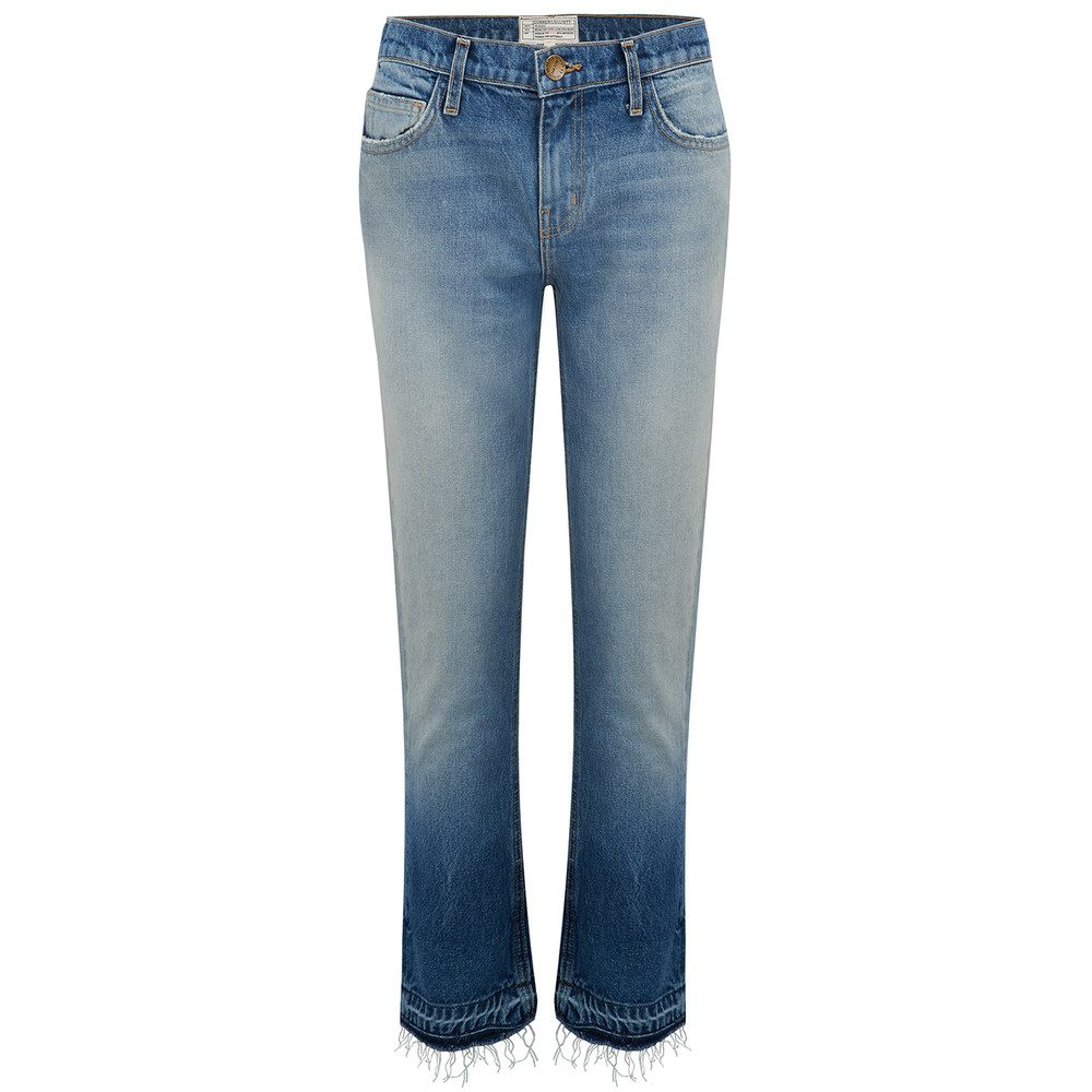 The Cropped Straight Jean - Indigo Ombre with Released Hem