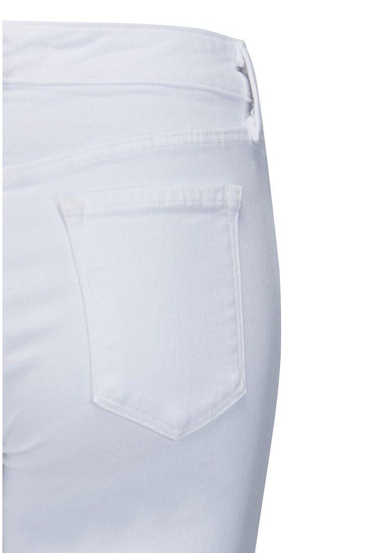 J Brand Amelia Mid Rise Straight Leg Jeans - White main image