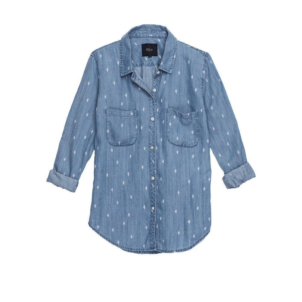Carter Denim Shirt - Cactus
