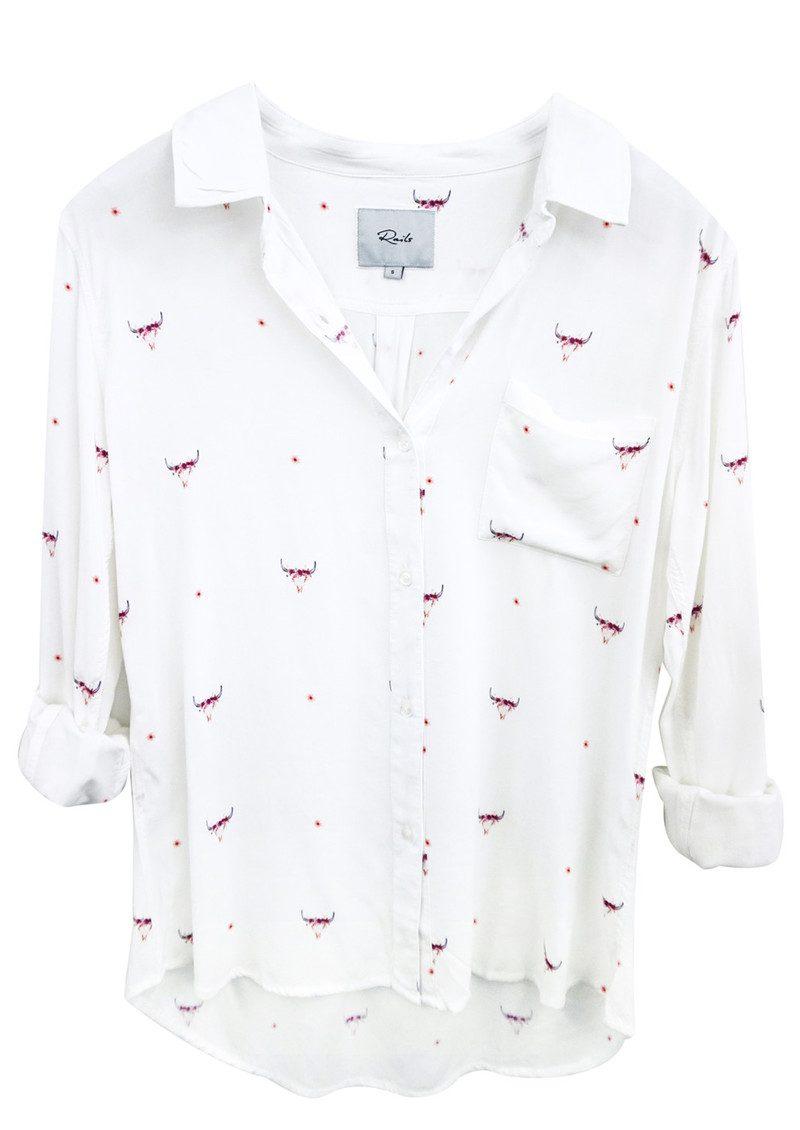 Rails Rosci Shirt - Indigo Print main image