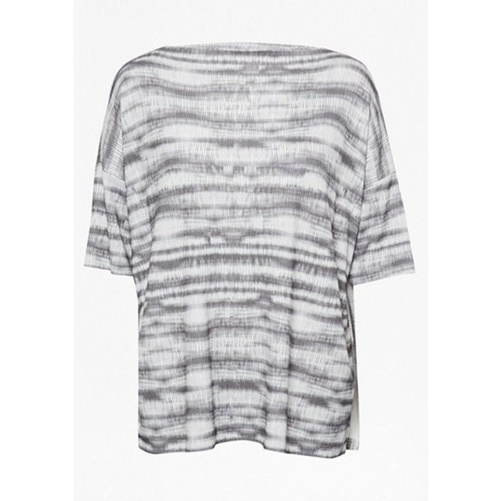 Sonar Stripe Slouch Top - Black Combo