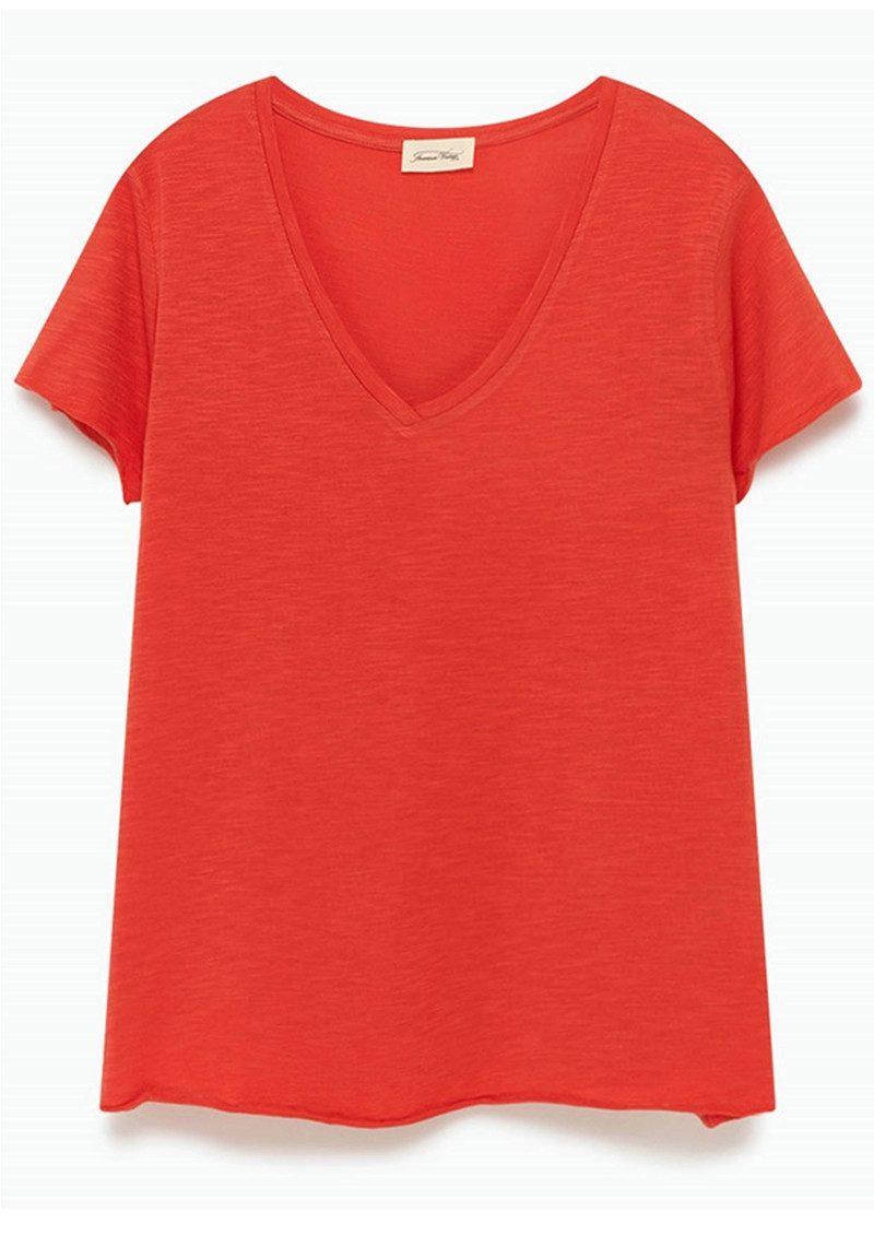 American Vintage Jacksonville Short Sleeve T-Shirt - Scarlet main image