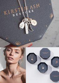 KIRSTIN ASH Bespoke Crystal Point Black Onyx Charm - Rose Gold