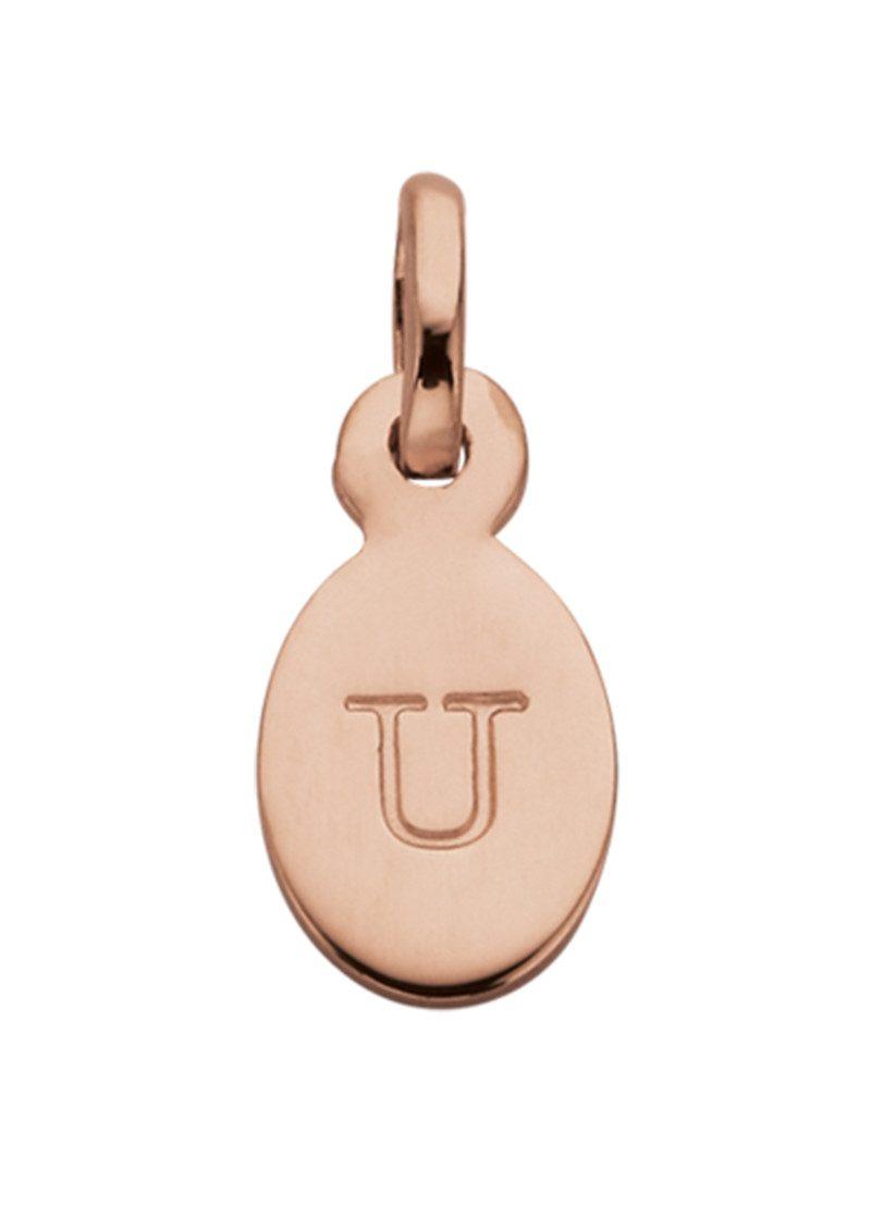 KIRSTIN ASH Bespoke Alphabet 'U' Charm - Rose Gold main image