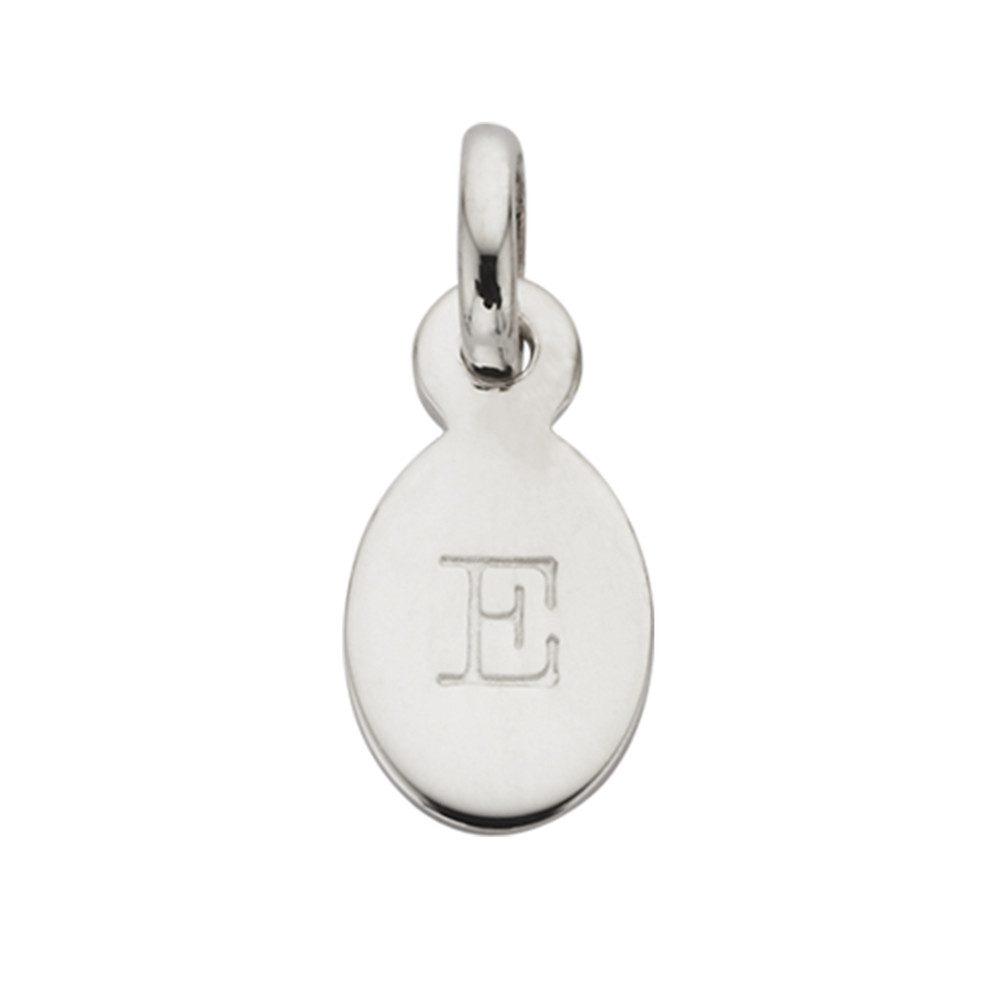 Bespoke Alphabet 'E' Charm - Silver