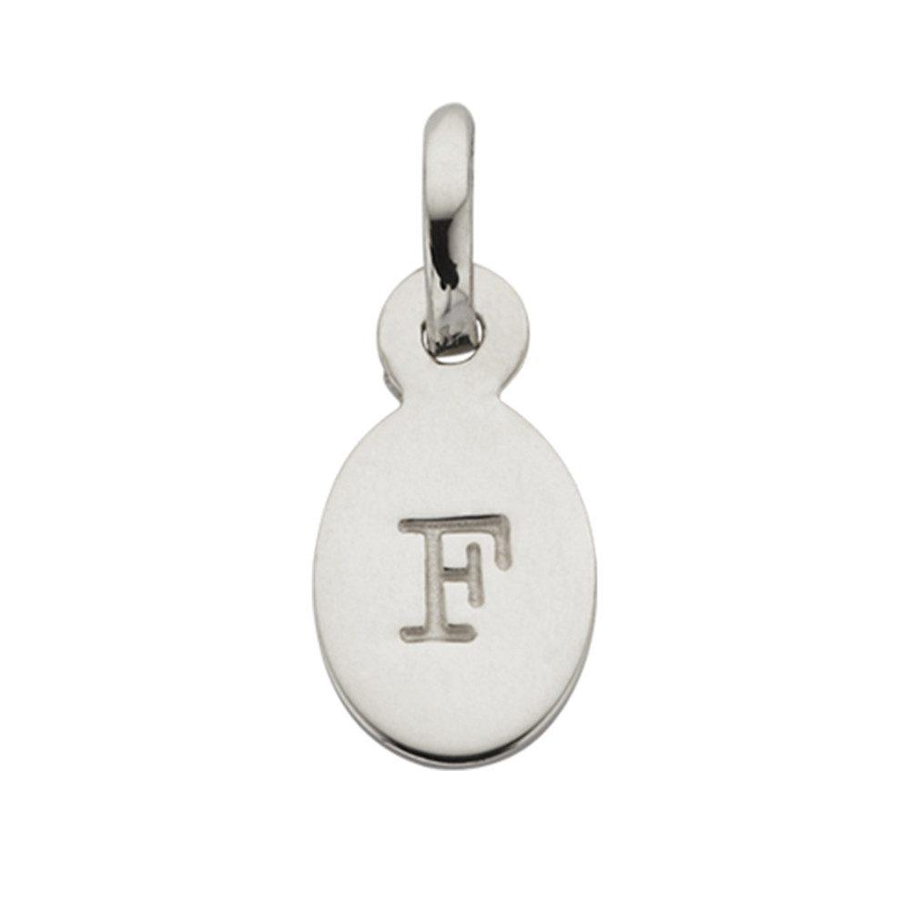 Bespoke Alphabet 'F' Charm - Silver