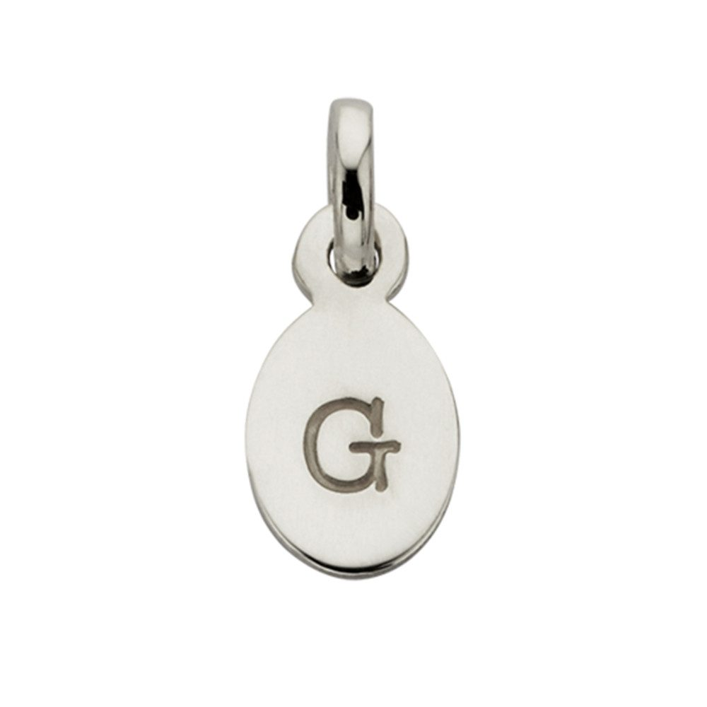 Bespoke Alphabet 'G' Charm - Silver