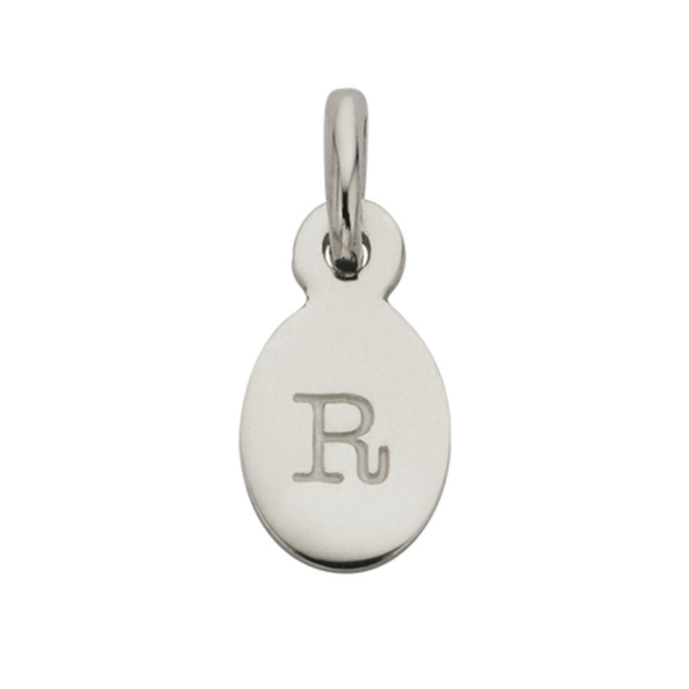 Bespoke Alphabet 'R' Charm - Silver