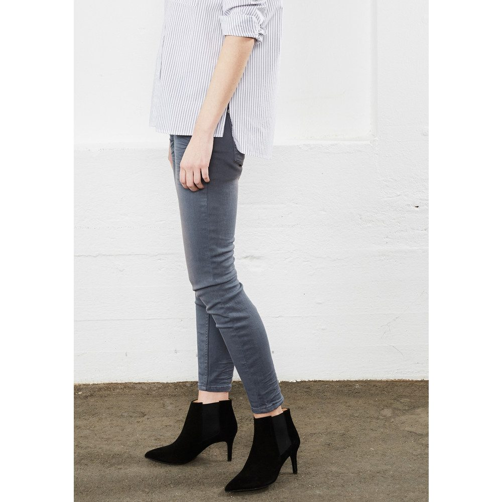 Sid Ankle Jeans - Mid Grey