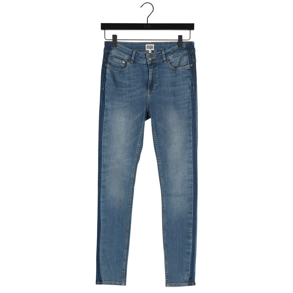 Julia Ankle Jeans - Mid Blue