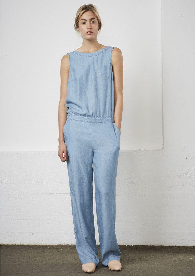 Twist and Tango Alessa Jumpsuit - Light Blue Denim main image