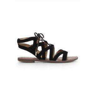 Gemma Lace Up Gladiator Sandals - Black