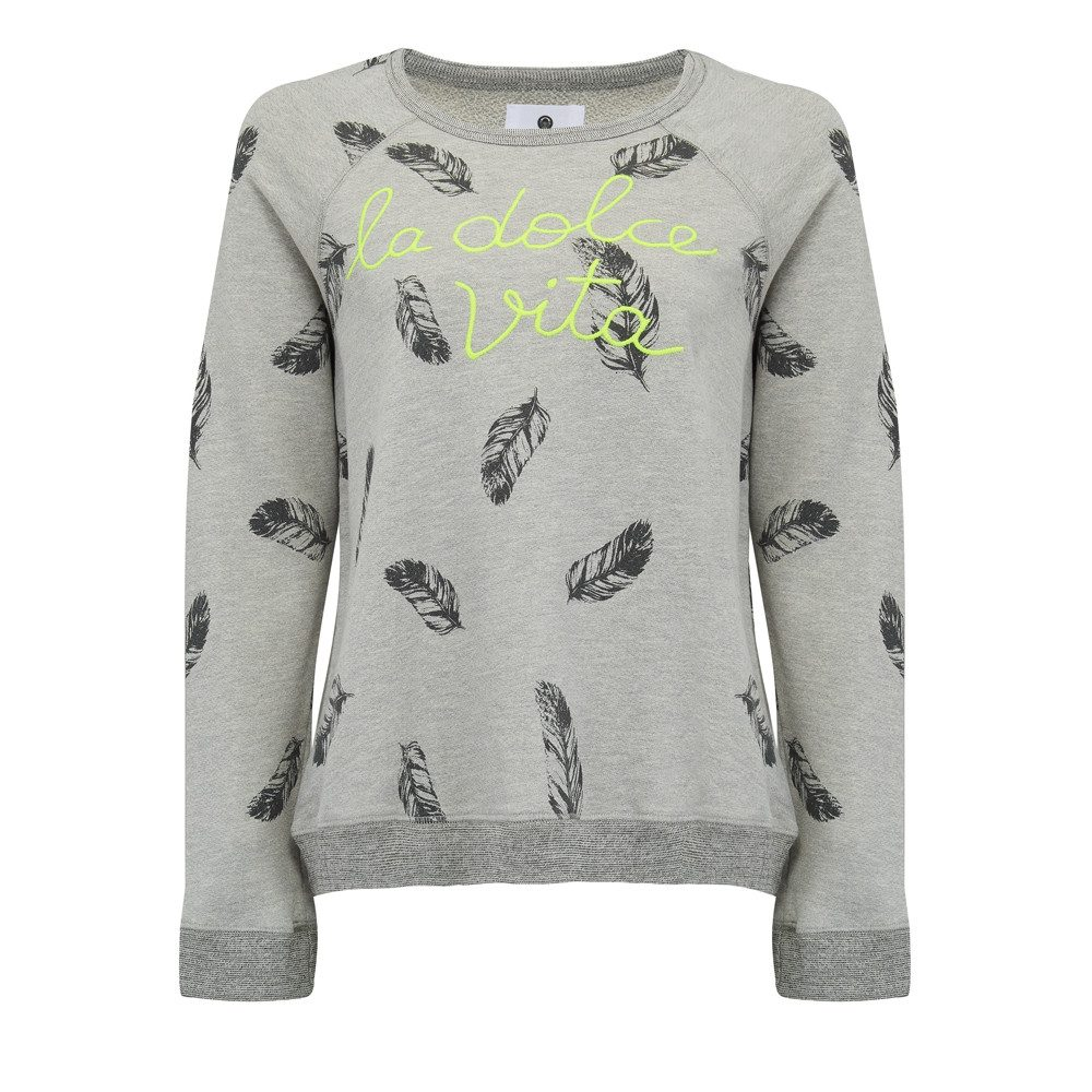 La Dolce Vita Sweatshirt - Feather Print