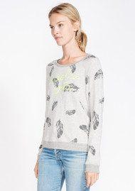 SUNDRY La Dolce Vita Sweatshirt - Feather Print