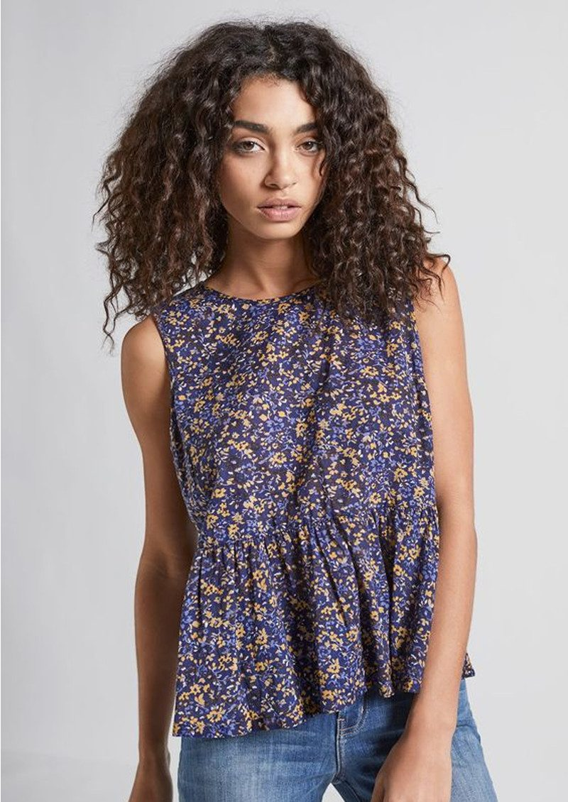 Current/Elliott The Peplum Tank - Floral Field main image