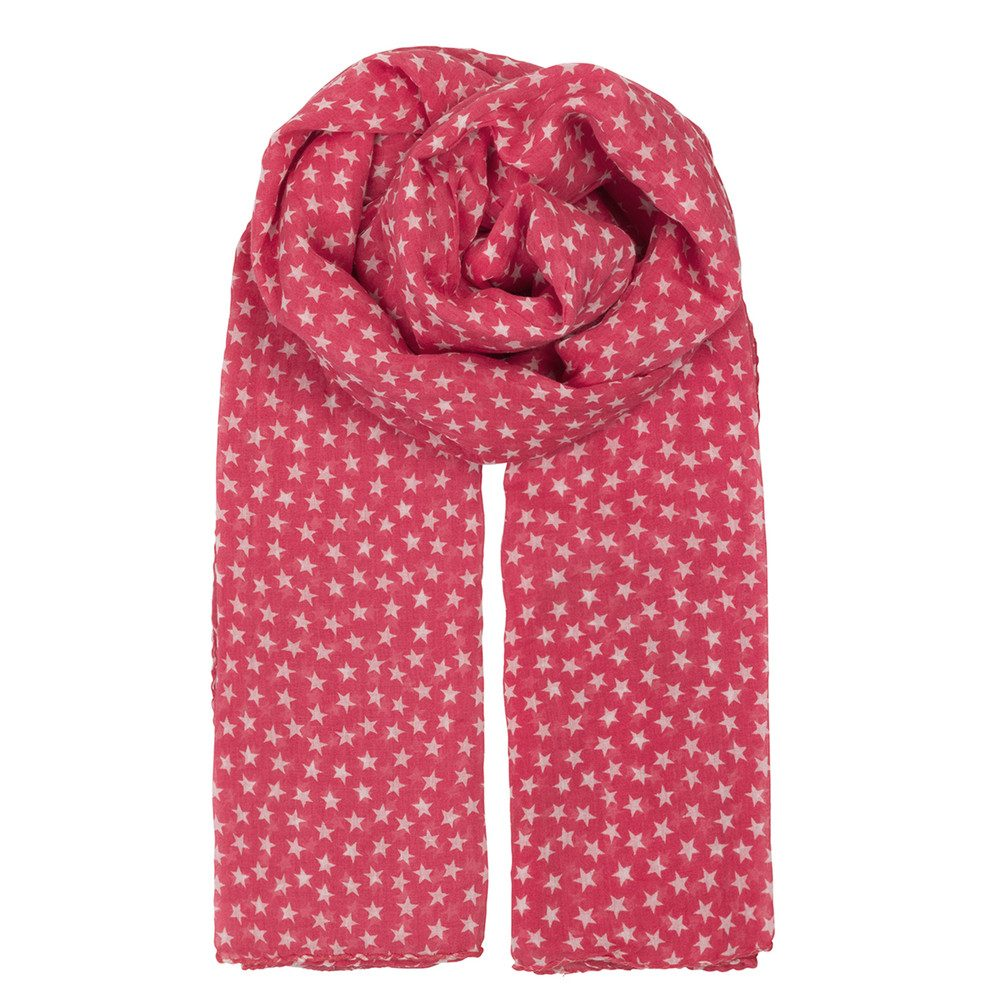 Fine Summer Star Scarf - Rouge Red