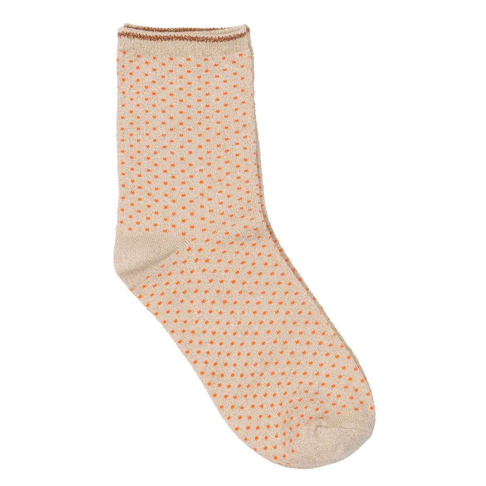 Dina Small Dots Socks - Mandarin Red