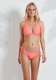HEIDI KLEIN Capri Scallop Triangle Bikini Top - Neon Coral